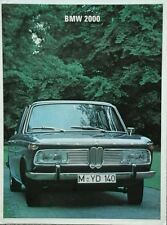 BMW 2000 German Market large format Brochure - 1967