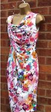 EX Oasis Floral Drape Pencil Wiggle Dress 16
