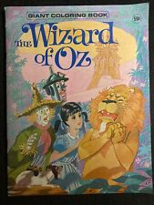 Vintage Giant Coloring Book The Wizard Of Oz