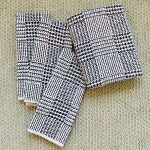 Vintage Ralph Lauren Houndstooth 100% Cotton 1 Bath Towel + 3 Hand Towels