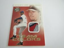 New listing PEDRO MARTINEZ 2003 FLEER FOCUS JERSEY EDITION GAME USED PATCH #D 18/250