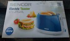 Sencor Toaster 2-Slice Bright Blue Anti Slip Feet Heat Insulated Outer Case New