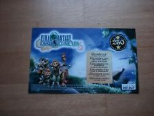 Final Fantasy Crystal Chronicles Gamecube VIP points card