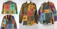 Stonewashed Patchwork Shirt Festival Hippy Boho Kurta Casual Grandad HANDMADE
