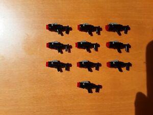 LEGO Star Wars Gun Black Blaster Grey Trigger Red Stud Guns Stock Long Gun