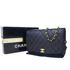 Auth Chanel Matrasse CC Logo Chain Ladies Leather Clutch Bag, Shoulder B 29fa012