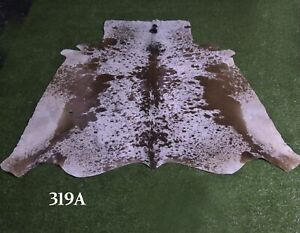 """New Cowhide Rugs Hair On COW HIDE Rugs Area Cow Skin Leather Rugs (61"""" x 54"""")"""