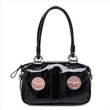 Mimco Turnlock Large Black Rose Gold Patent Leather Handbag Authentic/Genuine