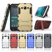 For Samsung Galaxy J1 Ace /J2 Armor 2 in 1 plastic silicon hard stand Case Cover
