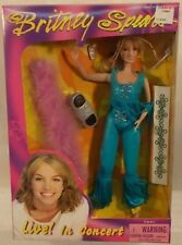 "Britney Spears Live In Concert 11"" Doll In Blue Outfit Pink Boa Hit Me Baby Misb"