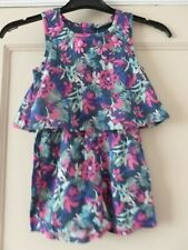 Girls  Navy/Pink Mix Floral  Playsuit Age 3 Years Matalan NWT