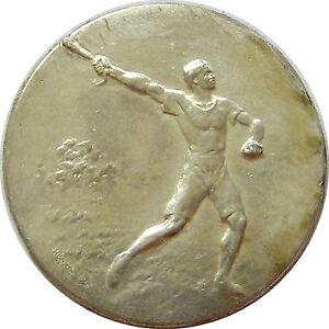 f725 1920's Hammer Throw - Sports Championship Award  Medal
