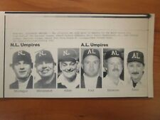 Vintage AP Wire Press Photo MLB 1986 Official Umpires for the World Series