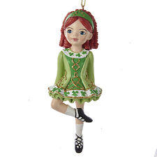 KURT ADLER SUGAR ART IRISH STEP DANCER IRISH DANCING GIRL CHRISTMAS ORNAMENT