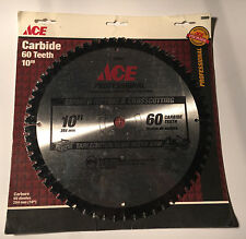 """ACE Professional 28909 Table/Miter/Slide Miter Saw Blade 10"""" 60T 5/8"""" Arbor"""