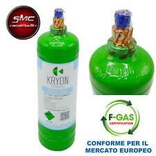 BOMBOLA GAS REFRIGERANTE R134A 900 gr 1 LITRO CLIMATIZZATORE AUTO CONDIZIONATORE