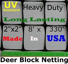 """Deer Fence 7.5' X 330' Uv 2"""" Mesh - Poultry Aviary Dog Deer Block Netting Fence"""