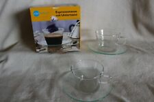 Jenaer Glas Coffee, Espresso Cup with Saucer, Set of 2 NEW MIB