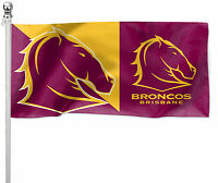 e8e006892 Brisbane Broncos NRL Pole Flag LARGE 1800x900mm (Pole not included) Bar Man  Cave