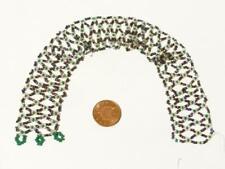 Antique Suffragette Movement Fine Green White Purple Beads Jewellery #R80