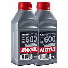 2 x 500ml Motul RBF600 Brake Fluid High Performance Track Race DOT 4 - 1 Litre