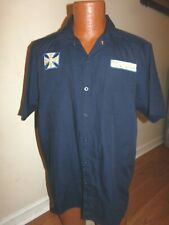 Jesse James West Coast Choppers Button Down Workwear Shirt M/C Club Blue Size L