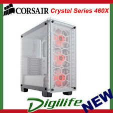 Corsair 460X RGB White Crystal Series. 3x 120mm RGB LED Fan ATX Gaming Case