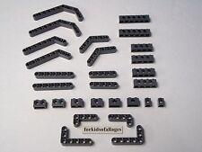 28 Lego Technic Liftarms & Bricks Dk Bluish Stone Grey Straight Angle Beam Lot A