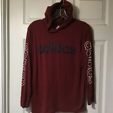 ADIDAS BOYS LONG SLEEVE HOODIE TEE SHIRT, SIZE MEDIUM, 10 - 12