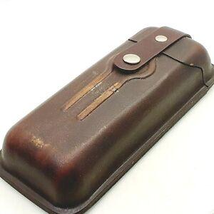 Vintage genuine leather pen case for pencil fountain pen ballpoint pen