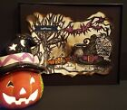Spooky Halloween Witches Cove By Gafflezzz Original Artwork Pen Drawing Framed
