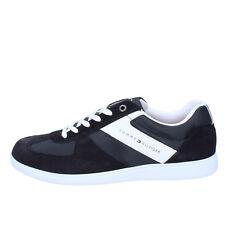 scarpe uomo TOMMY HILFIGER 44 sneakers blu camoscio tessuto AB850-E 95db45f9fb2