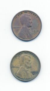 2 x ONE CENT USA 1912 & 1928 S