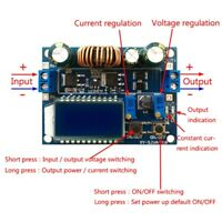 4A Boost Converter Module Adjustable Boost Board With LCD Display