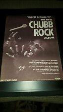 Chubb Rock I Gotta Get Mine Yo Rare Original Promo Poster Ad Framed!