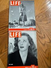 LIFE MAGAZINE Jan 23 1939 BETTE DAVIS & Dec 25 MERRY CHRISTMAS- Coca-Cola Ad