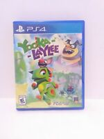Yooka-Laylee (Sony PlayStation 4, 2017) Game and Case Tested Fast Shipping