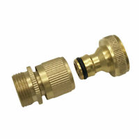 Garden Hose Quick Connector 3/4 Inch GHT Brass Easy Connect Fitting Yard Tool US