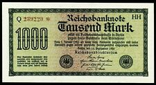 DEUTSCHLAND. GERMANY. 1000 Mark 15.9.1922. Ro. 75i. aUNC.