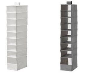 Ikea Skubb HANGING 9 compartment shoe organiser storage boxes wardrobe NEW