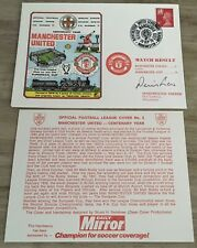 More details for manchester united v manchester city first day cover 1978 signed by dennis law