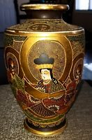 "MAGNIFICENT EARLY MEIJI HAND SIGNED SATSUMA DETAILED MORIAGE 10"" VASE"
