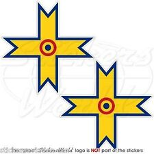 """ROMANIA Romanian AirForce WW2 Aircraft Roundels Decals Stickers, 3"""" (75mm) x2"""