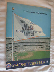 1974 New York Mets Yearbook N.L. Championship - World Series Edition *