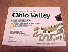 National Geographic December 1985 Map History The Making of America Ohio Valley