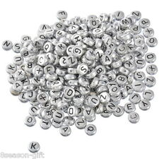 500Mixed Alphabet/Letter Acrylic Spacer Bead 7mm B09882