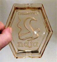 rare cendrier publicitaire cigarettes naja au cobra vers 1930