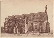 G1898 France - A la pointe St-Mathieu - Portail isolé et chapelle - 1938 print