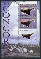 Gambia 2003 MNH Concorde Over Sydney Opera House 3v M/S Planes Aviation Stamps