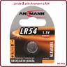 1 pile bouton AG10/LR54 Alcaline Ansmann, livraison rapide et gratuite
